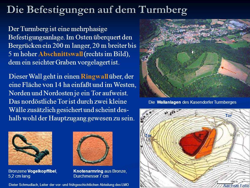 Die Befestigungen auf dem Turmberg