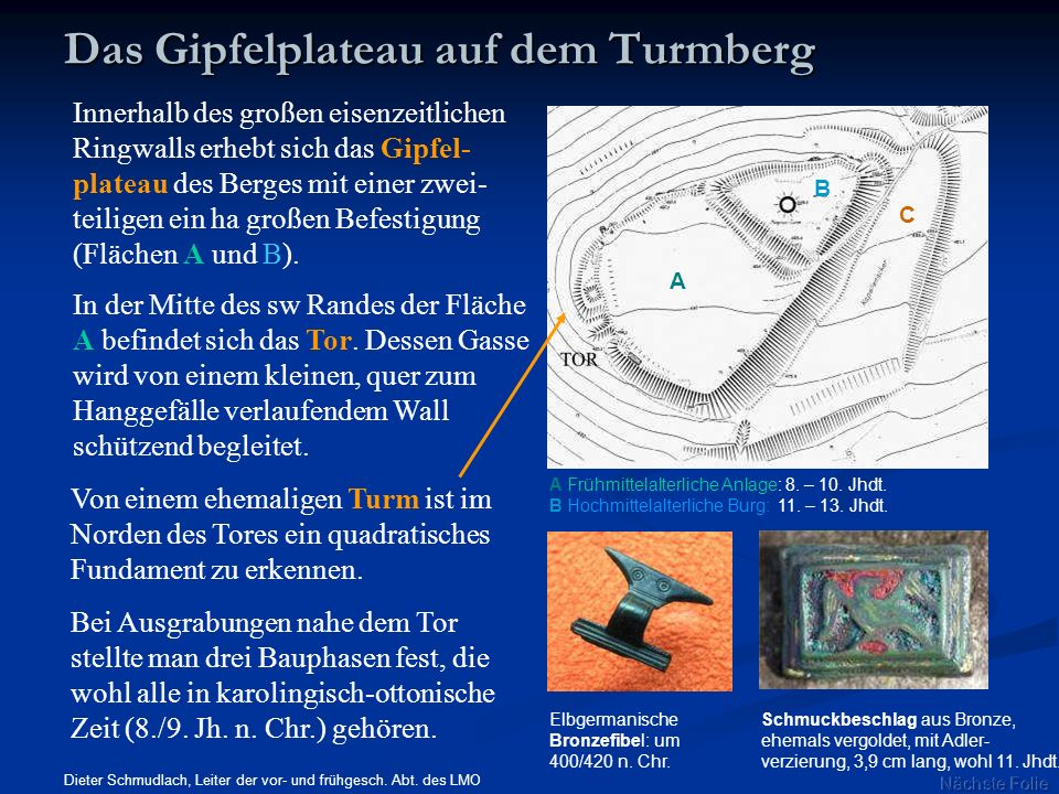 Das Gipfelplateau auf dem Turmberg