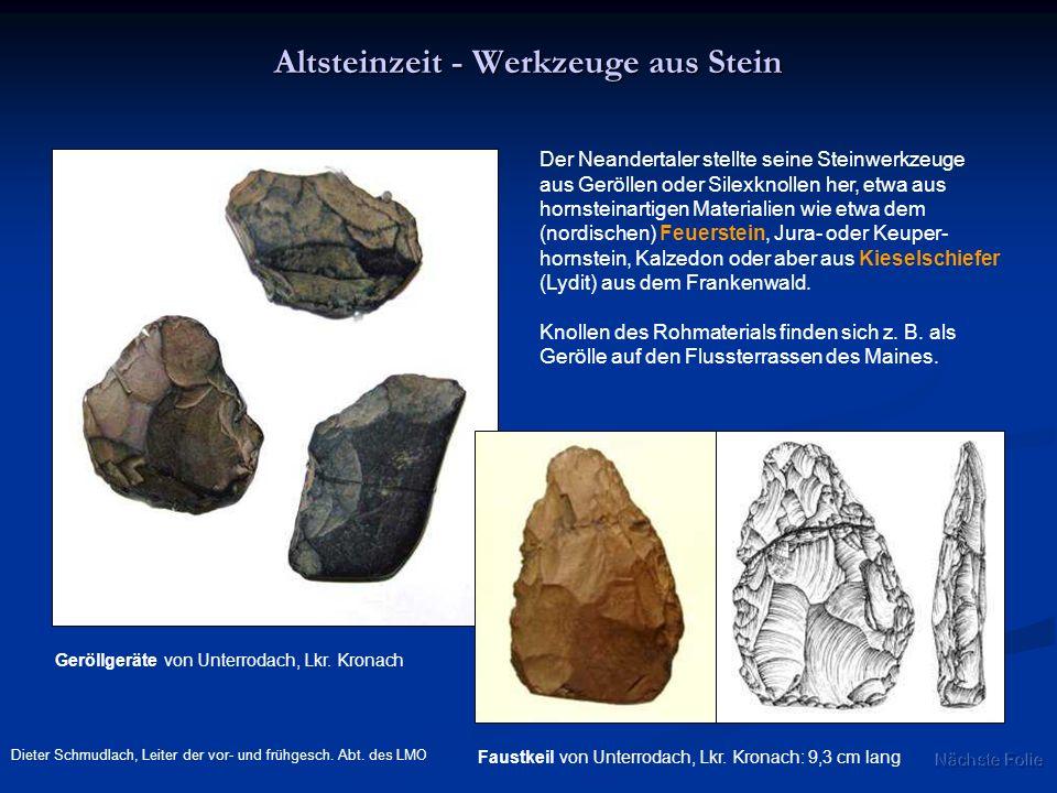 Altsteinzeit - Werkzeuge aus Stein