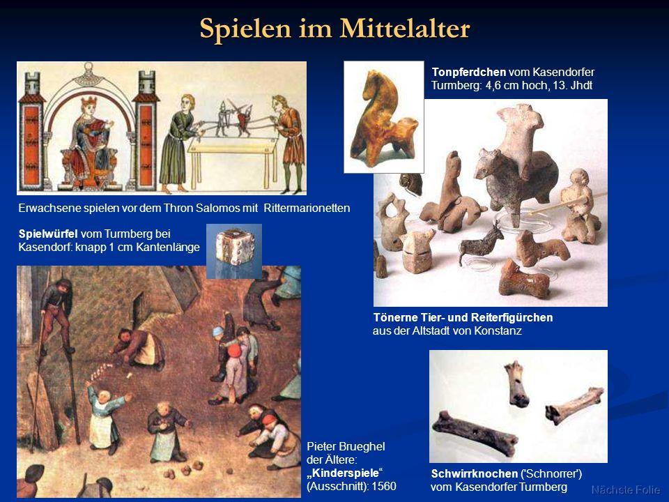 Spielen im Mittelalter