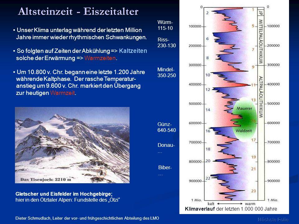 Altsteinzeit - Eiszeitalter