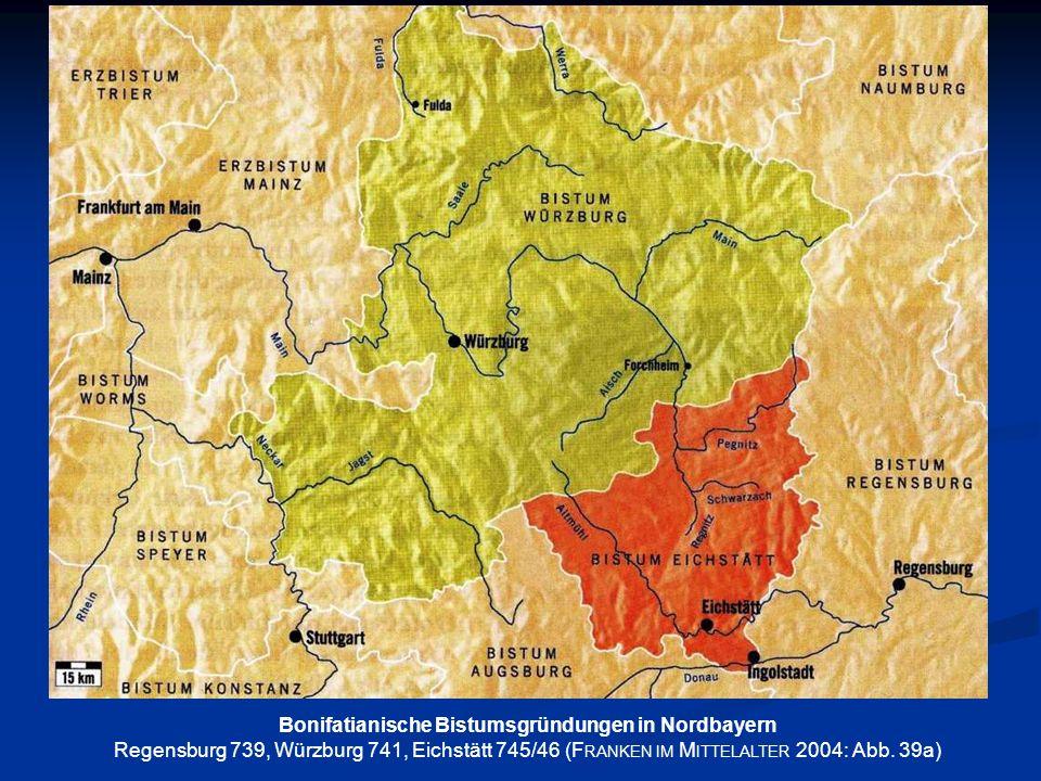 Bonifatianische Bistumsgründungen in Nordbayern