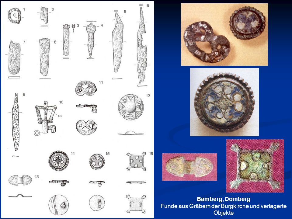 Funde aus Gräbern der Burgkirche und verlagerte Objekte