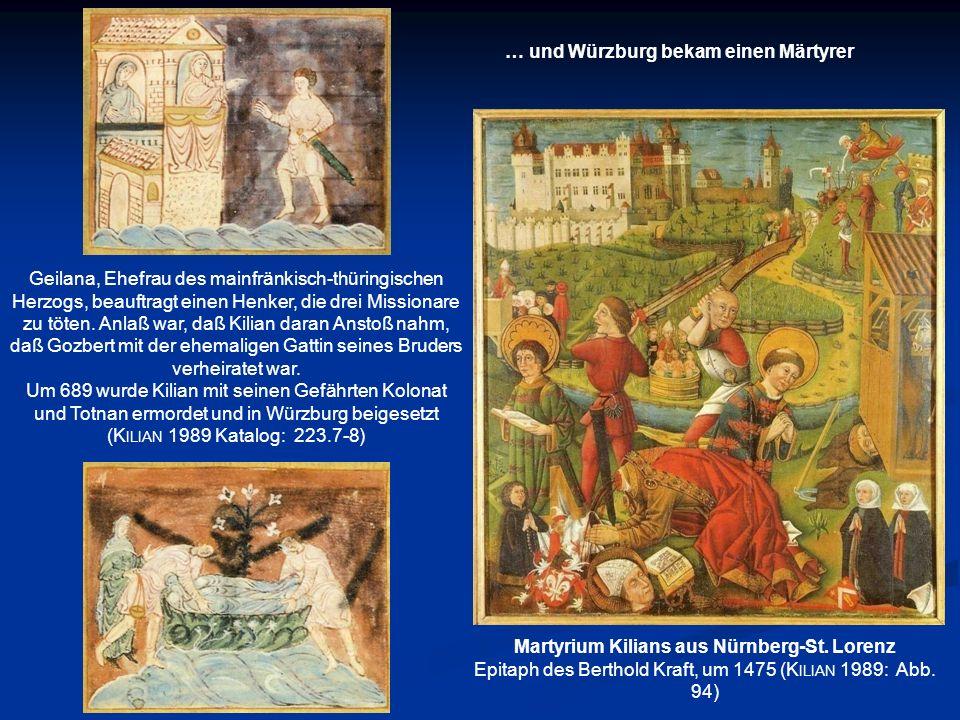 … und Würzburg bekam einen Märtyrer
