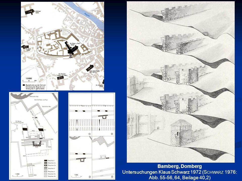 Bamberg, Domberg Untersuchungen Klaus Schwarz 1972 (Schwarz 1976: Abb. 55-56, 64, Beilage 40,2)