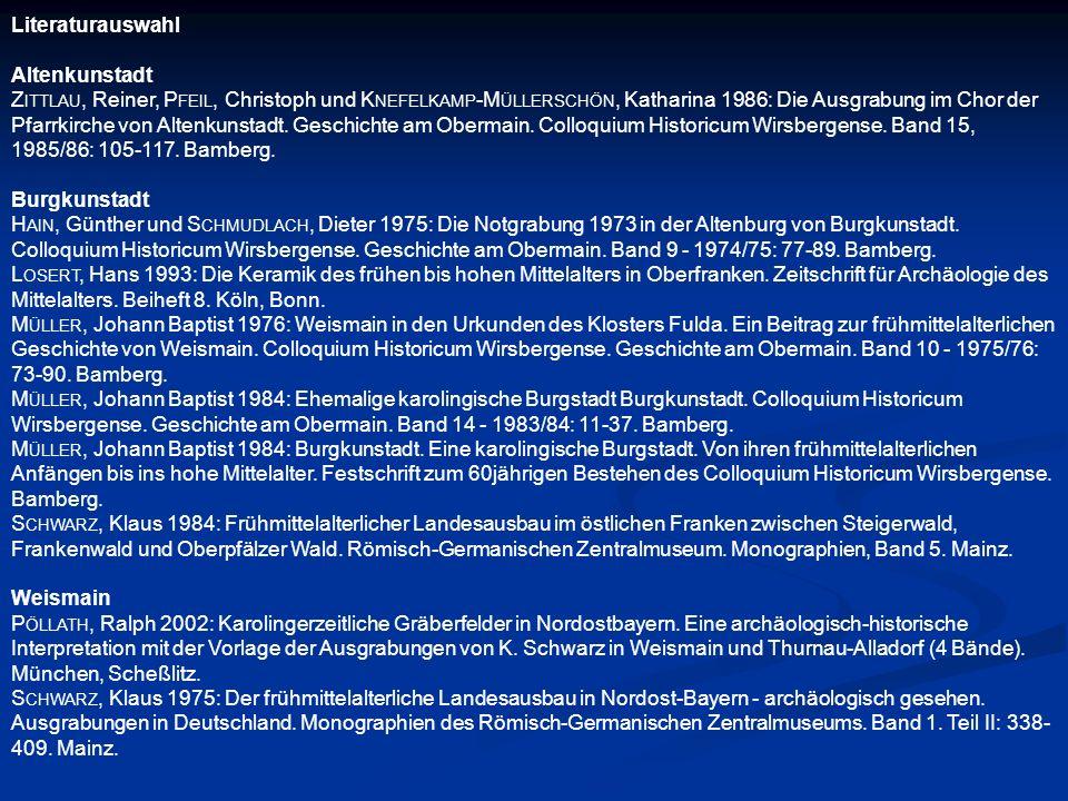 Literaturauswahl Altenkunstadt.