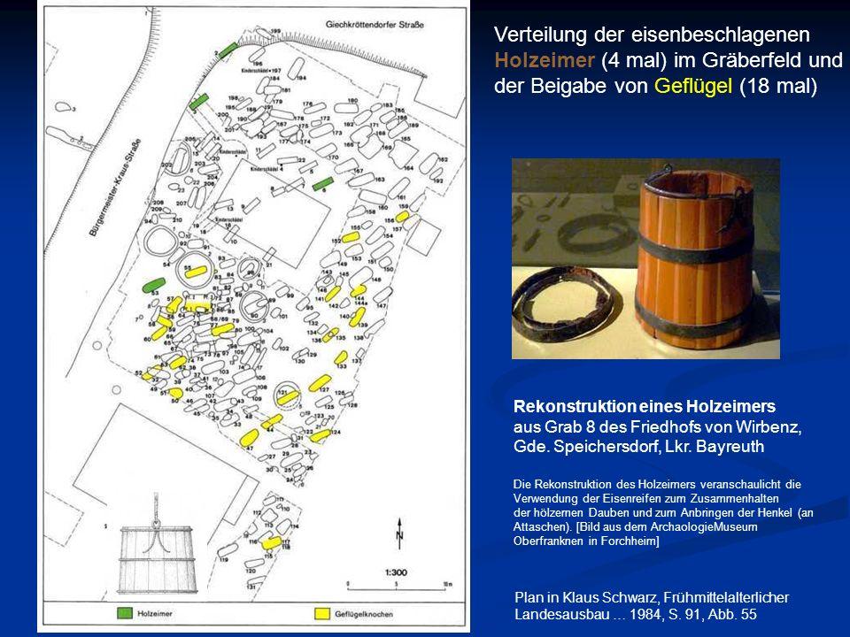 Verteilung der eisenbeschlagenen Holzeimer (4 mal) im Gräberfeld und
