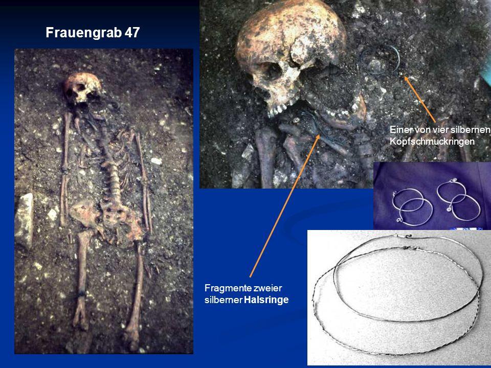 Frauengrab 47 Einer von vier silbernen Kopfschmuckringen