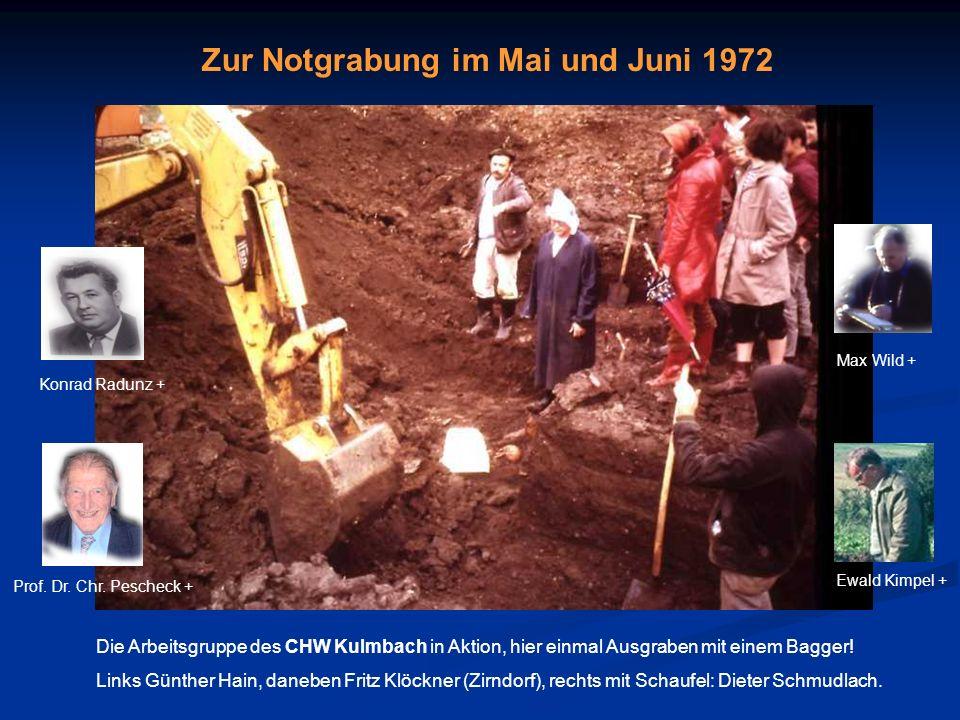Zur Notgrabung im Mai und Juni 1972