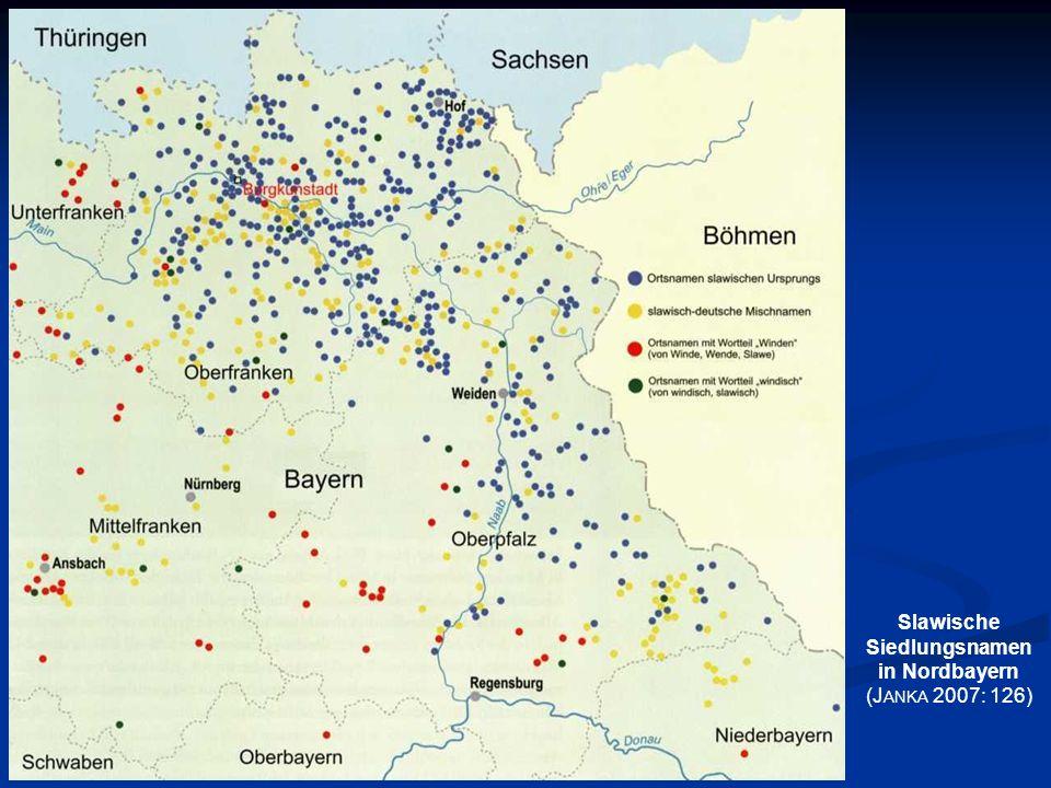 Slawische Siedlungsnamen in Nordbayern