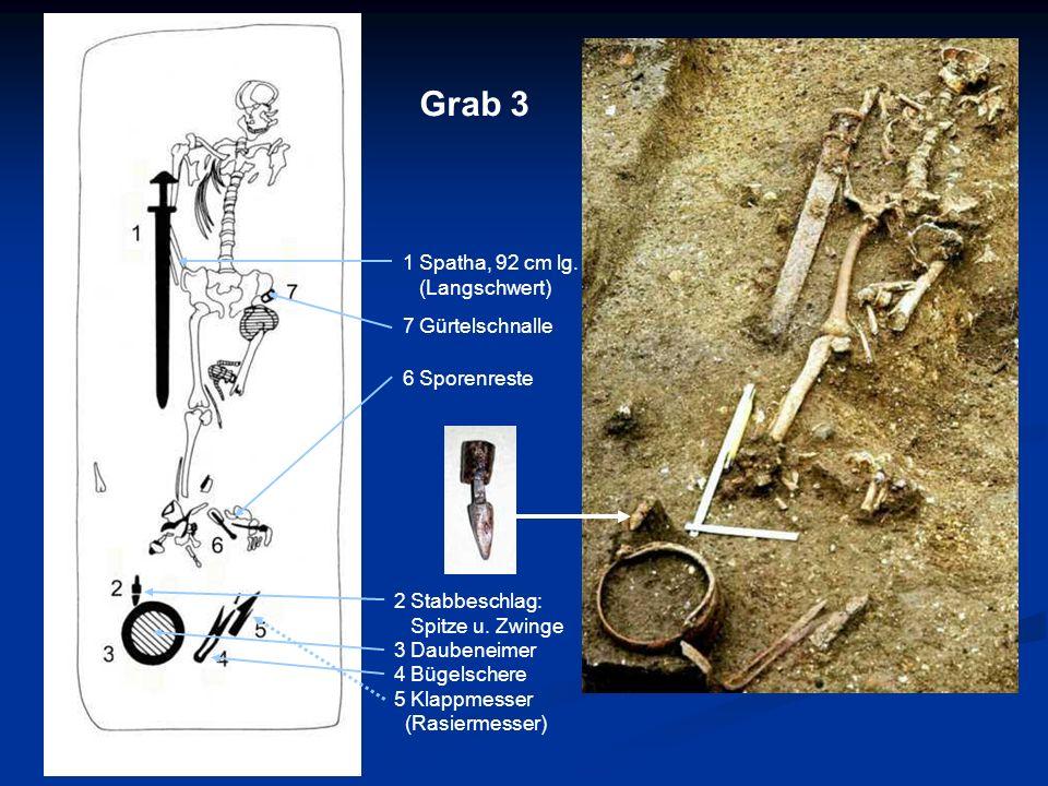 Grab 3 1 Spatha, 92 cm lg. (Langschwert) 7 Gürtelschnalle