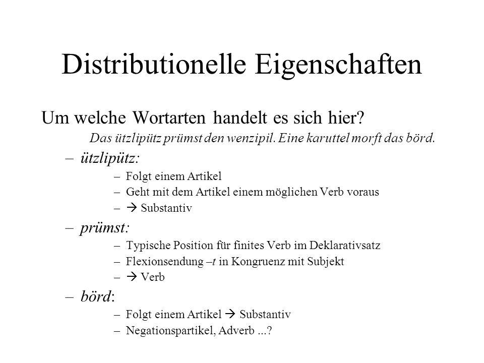 Distributionelle Eigenschaften