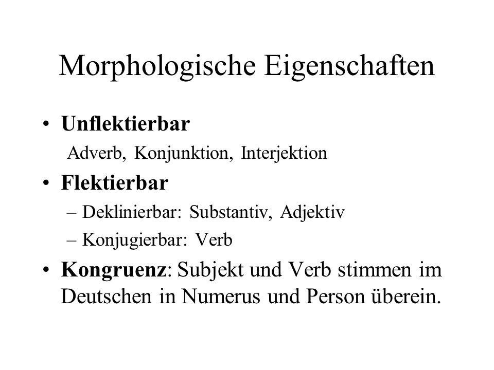 Morphologische Eigenschaften