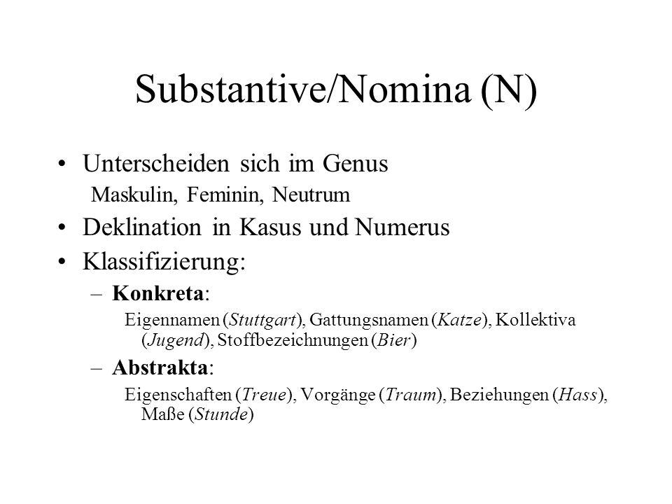 Substantive/Nomina (N)