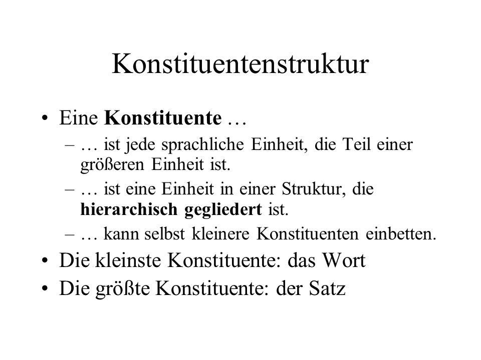 Konstituentenstruktur