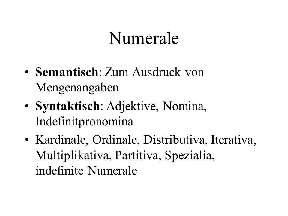 Numerale Semantisch: Zum Ausdruck von Mengenangaben