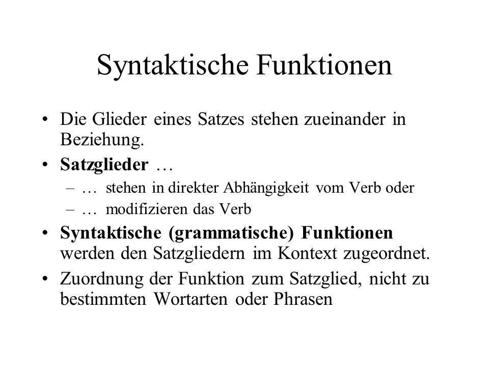 Syntaktische Funktionen