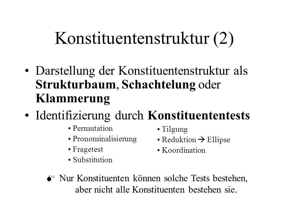 Konstituentenstruktur (2)