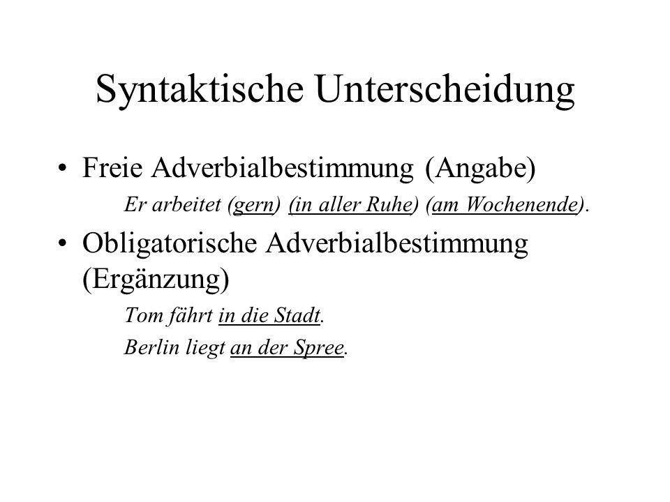 Syntaktische Unterscheidung