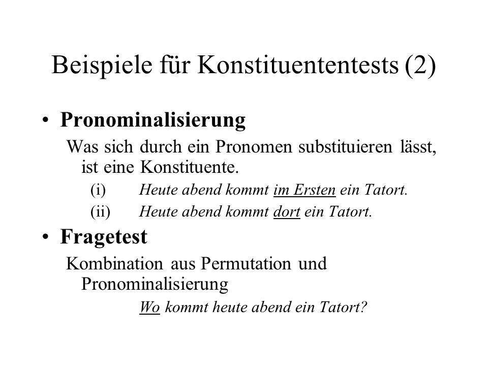 Beispiele für Konstituententests (2)