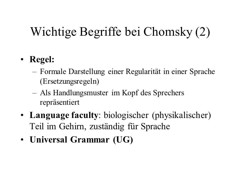 Wichtige Begriffe bei Chomsky (2)