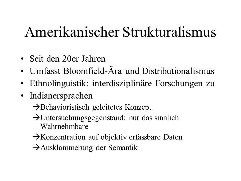 Amerikanischer Strukturalismus