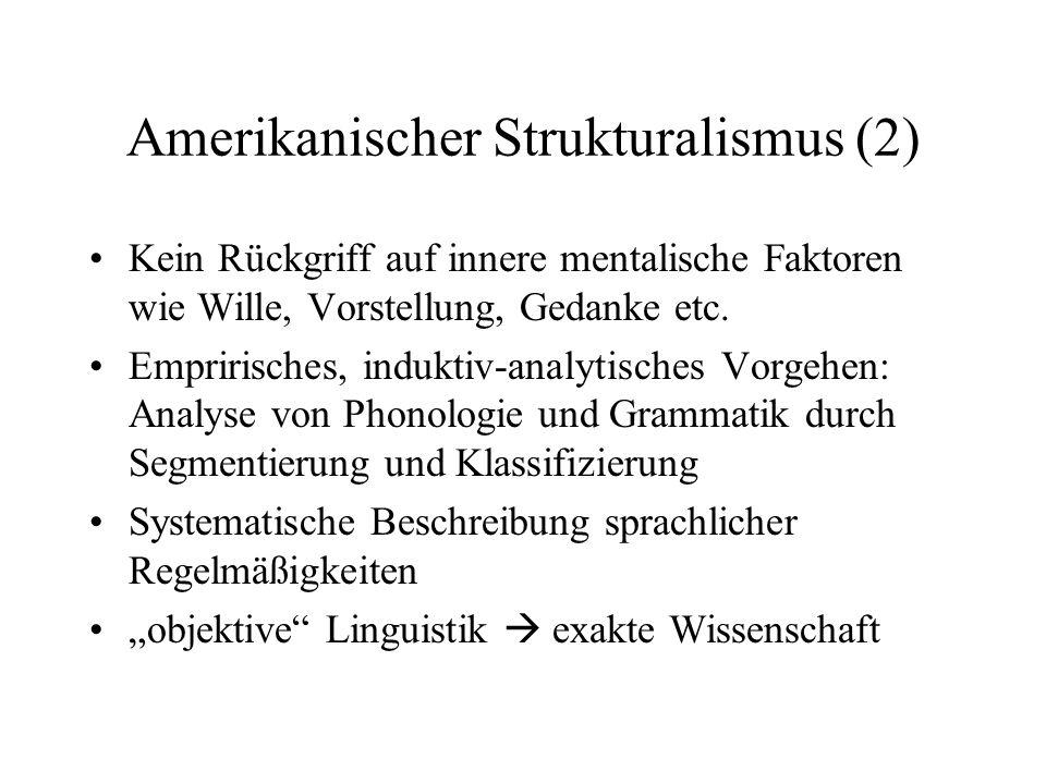 Amerikanischer Strukturalismus (2)