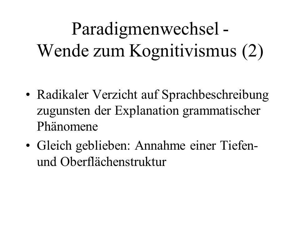 Paradigmenwechsel - Wende zum Kognitivismus (2)