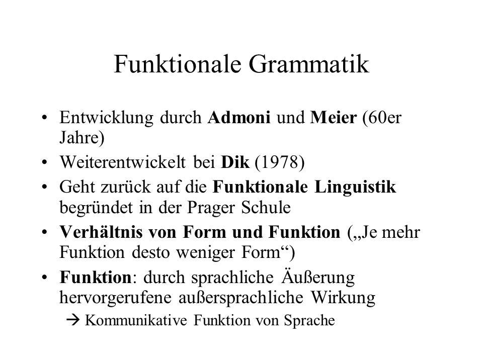 Funktionale Grammatik