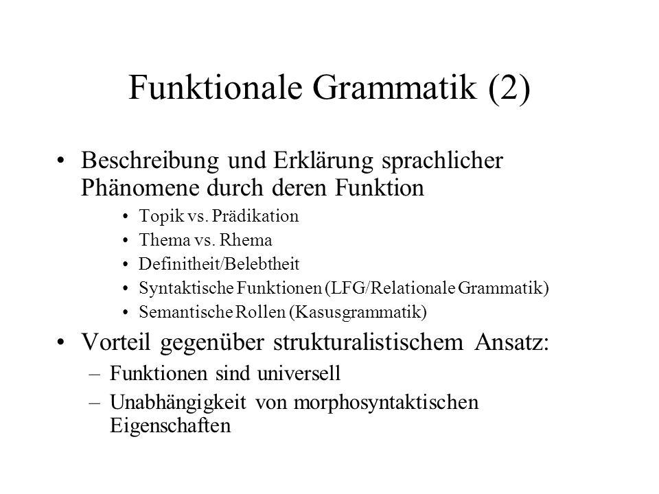 Funktionale Grammatik (2)