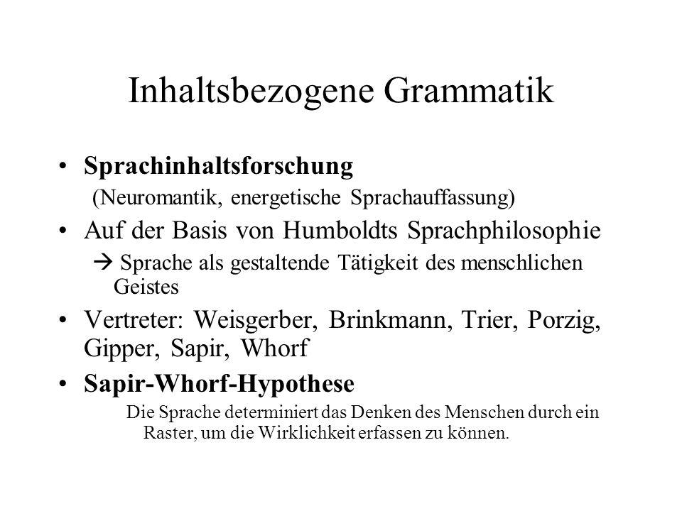 Inhaltsbezogene Grammatik