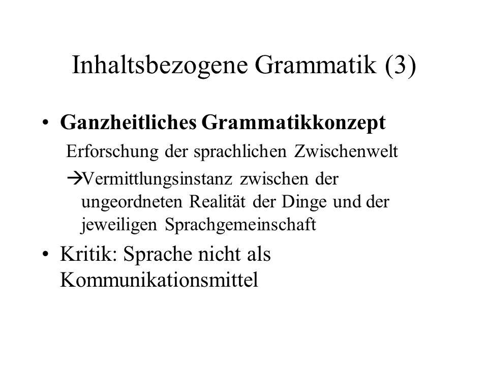 Inhaltsbezogene Grammatik (3)