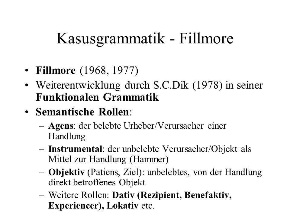 Kasusgrammatik - Fillmore