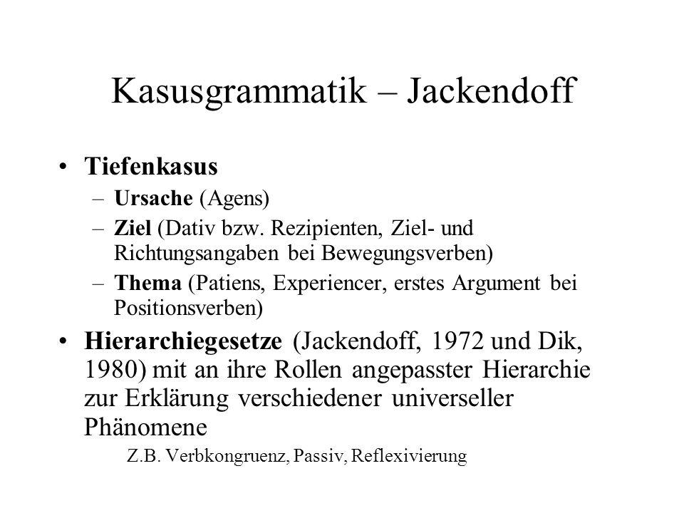 Kasusgrammatik – Jackendoff
