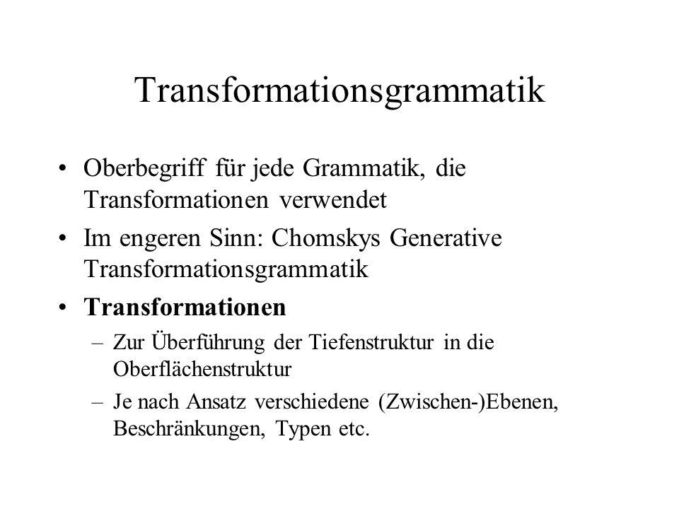 Transformationsgrammatik