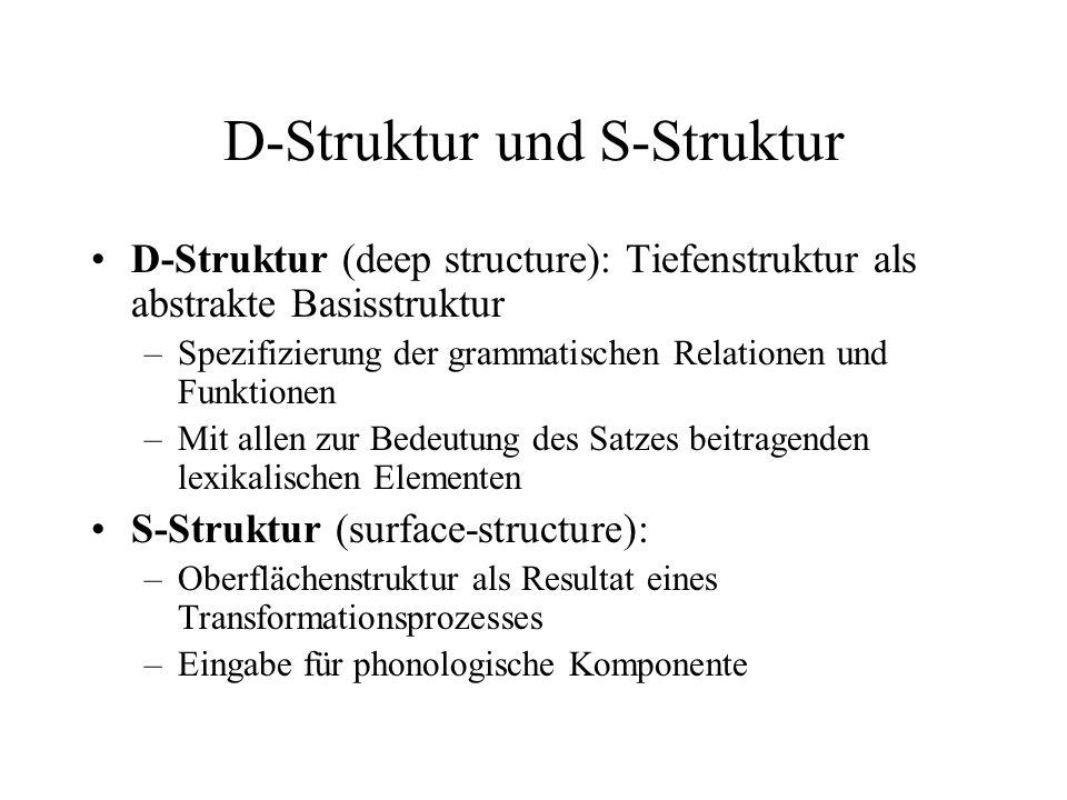 D-Struktur und S-Struktur