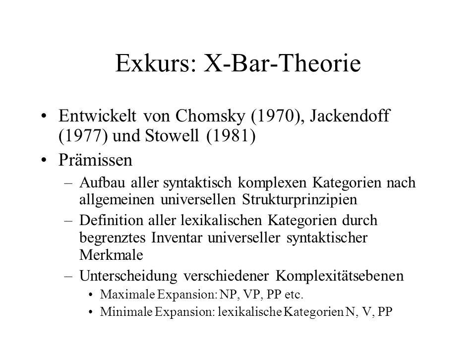 Exkurs: X-Bar-Theorie
