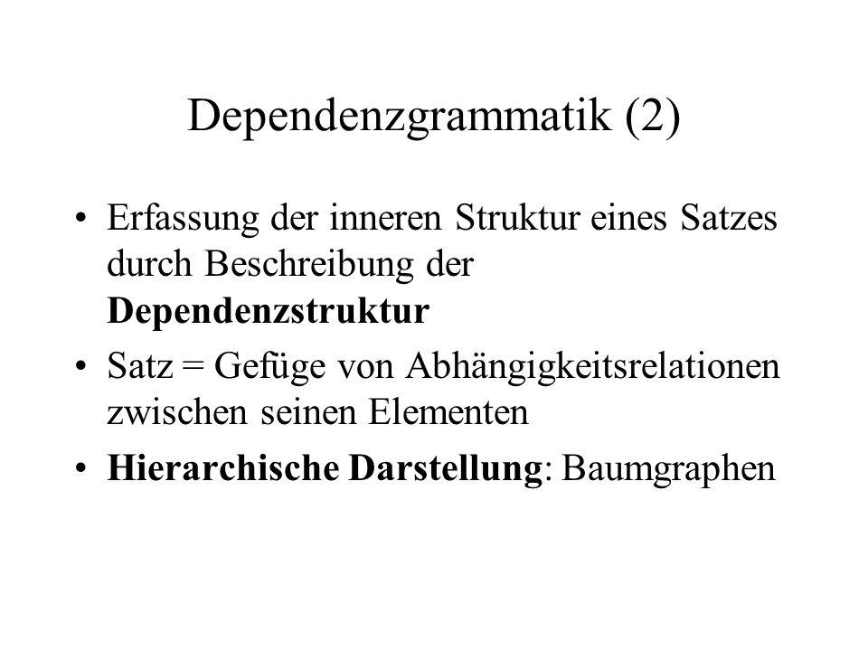 Dependenzgrammatik (2)