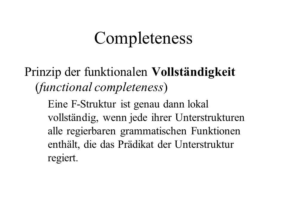 Completeness Prinzip der funktionalen Vollständigkeit (functional completeness)