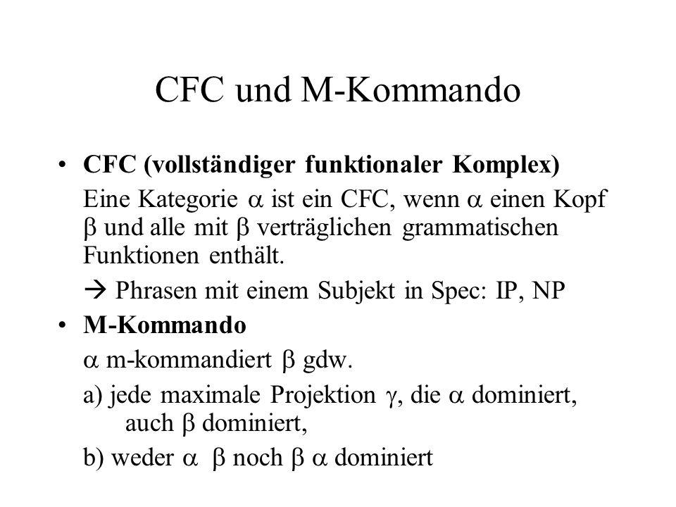 CFC und M-Kommando CFC (vollständiger funktionaler Komplex)