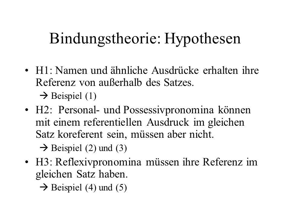 Bindungstheorie: Hypothesen