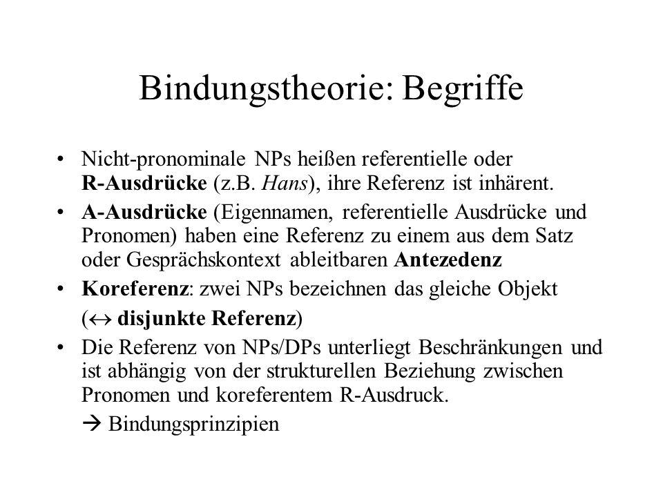 Bindungstheorie: Begriffe
