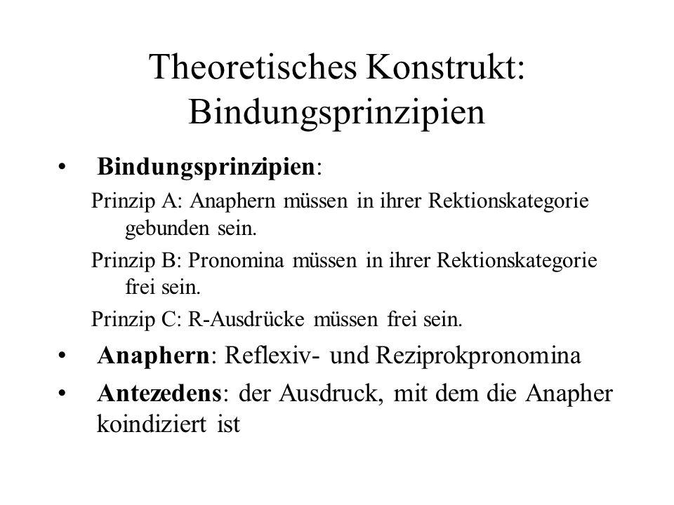 Theoretisches Konstrukt: Bindungsprinzipien