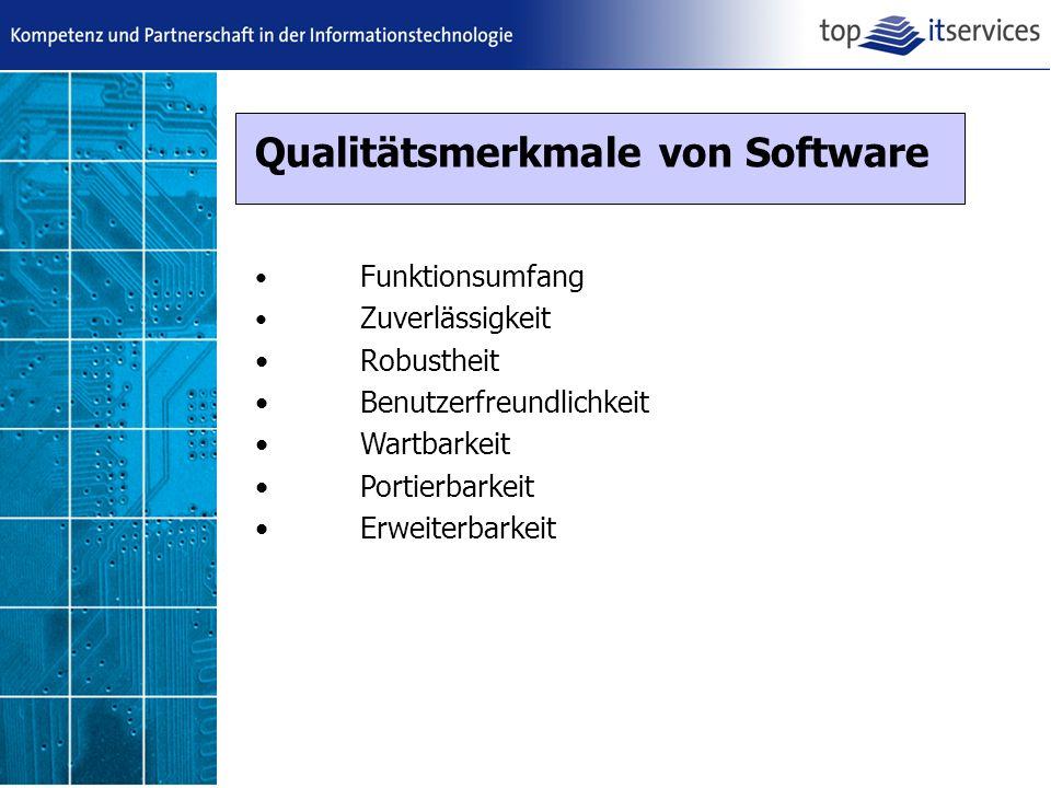 Qualitätsmerkmale von Software