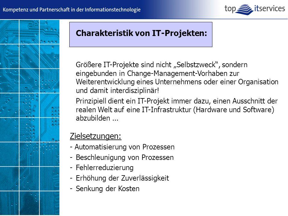 Charakteristik von IT-Projekten: