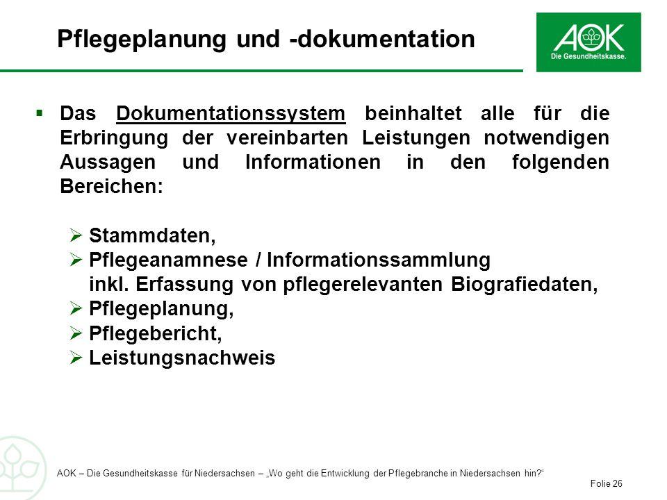 Pflegeplanung und -dokumentation