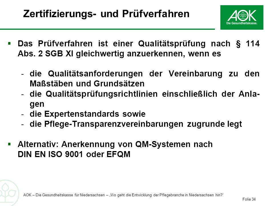 Zertifizierungs- und Prüfverfahren
