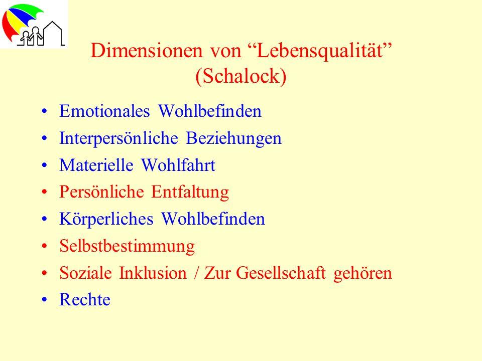 Dimensionen von Lebensqualität (Schalock)