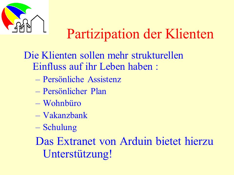 Partizipation der Klienten