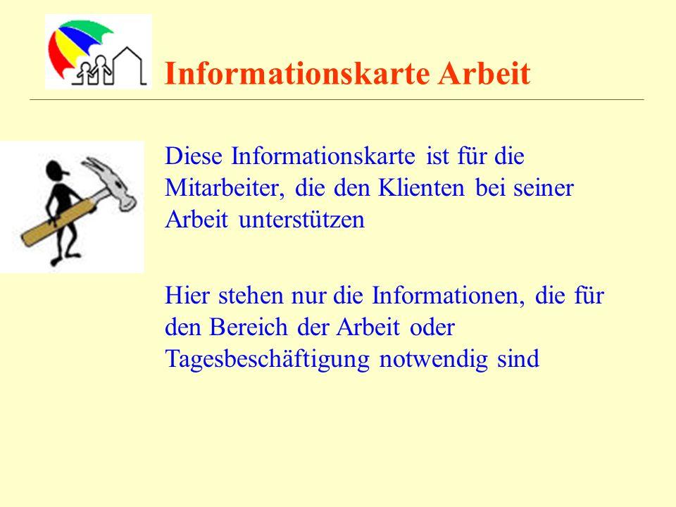 Informationskarte Arbeit